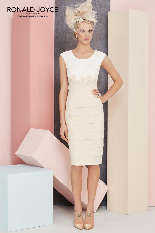 Veni Infantino For Ronald Joyce 991303Taupe dress